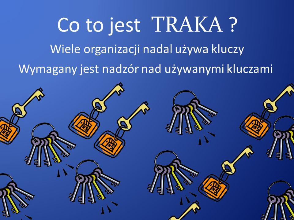 Co to jest TRAKA Wiele organizacji nadal używa kluczy Wymagany jest nadzór nad używanymi kluczami