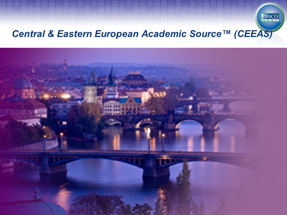 Central & Eastern European Academic Source (CEEAS)