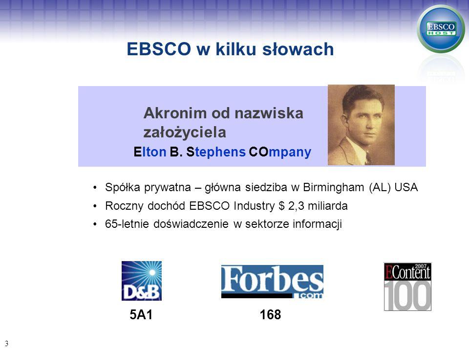 Co jest dostępne już dziś na platformie EBSCOhost.