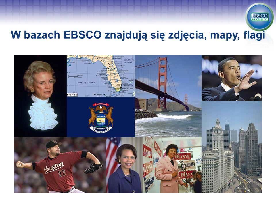W bazach EBSCO znajdują się zdjęcia, mapy, flagi