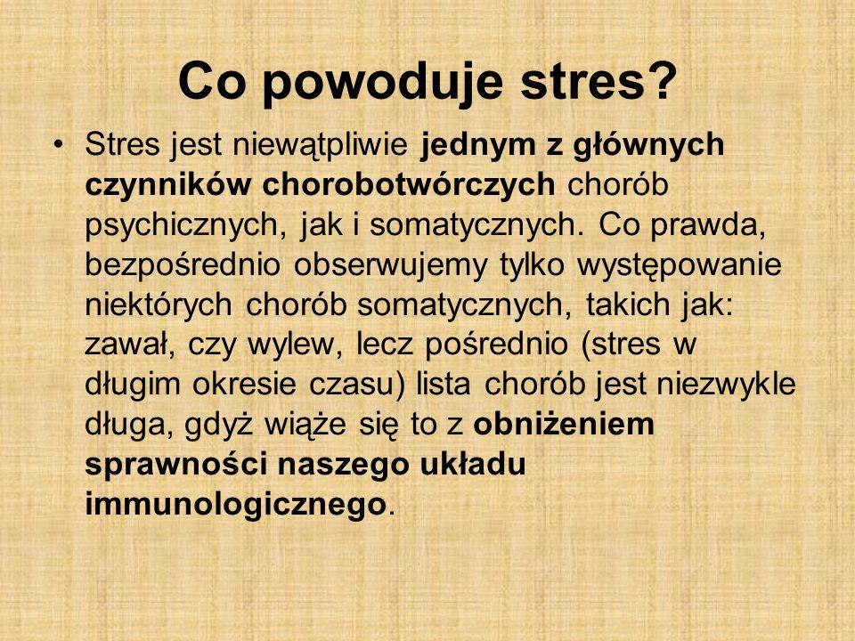 Co powoduje stres.