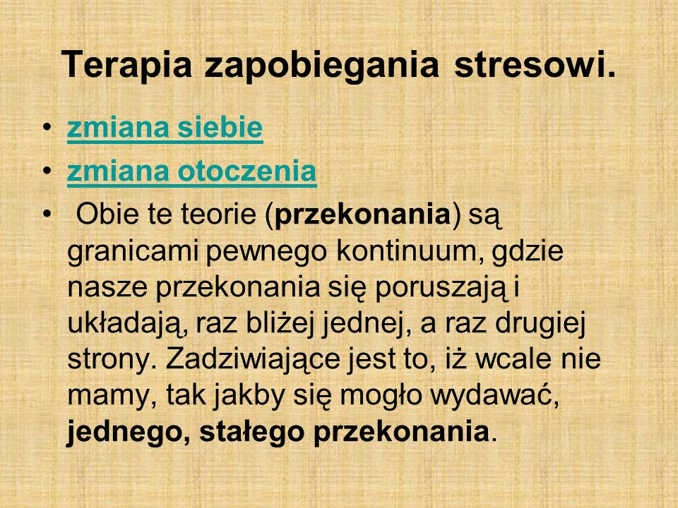 Terapia zapobiegania stresowi.