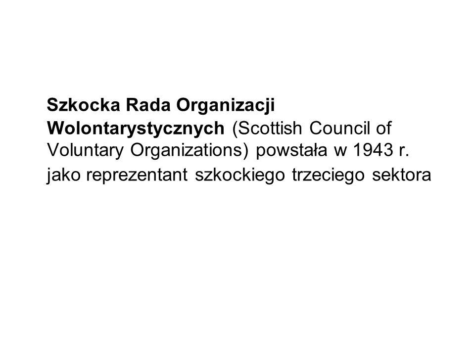 Szkocka Rada Organizacji Wolontarystycznych (Scottish Council of Voluntary Organizations) powstała w 1943 r. jako reprezentant szkockiego trzeciego se