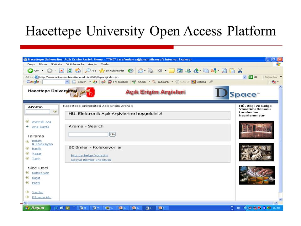 Hacettepe University Open Access Platform