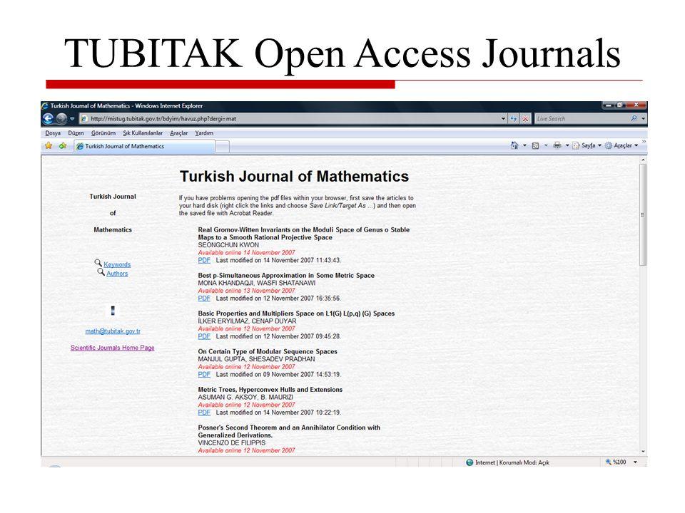Czasopisma otwartego dostępu - Turkish Librarianship Journal Turkish Librarianship to kwartalnik wydawany przez Stowarzyszenie Bibliotekarzy Tureckich.