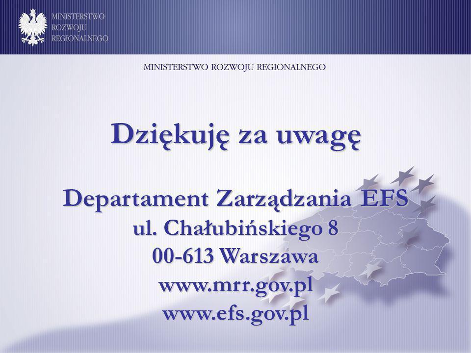 Departament Zarządzania EFS ul.