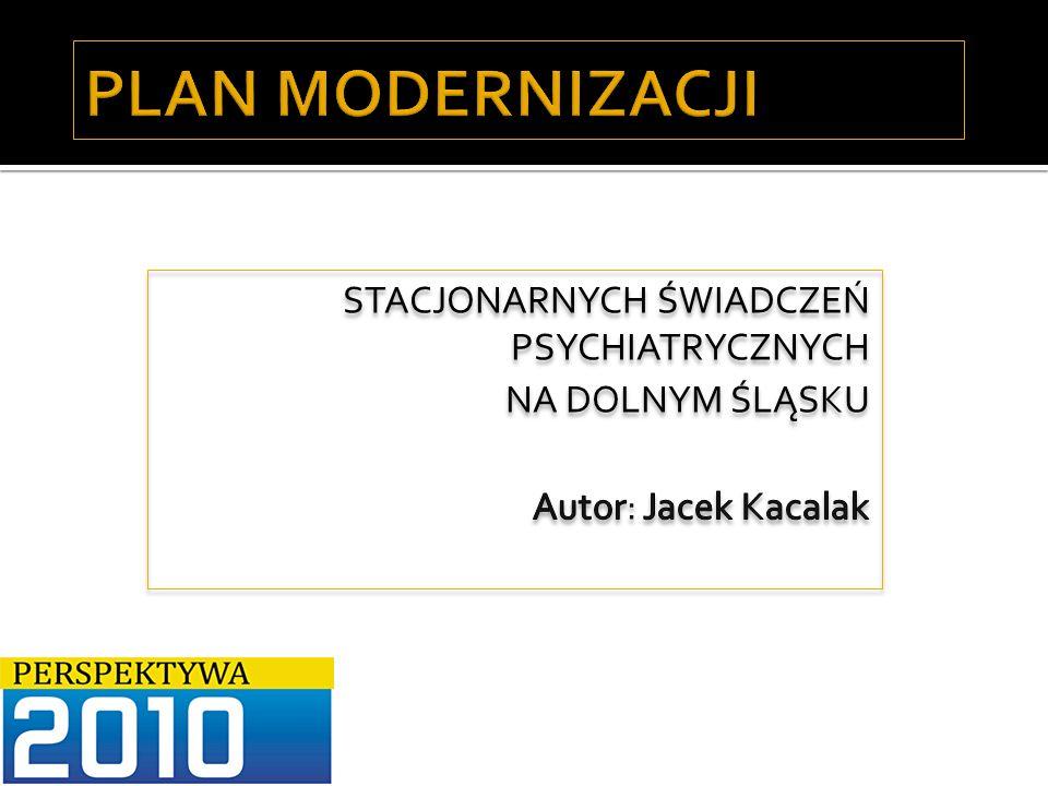 Autor: Jacek Kacalak12 Psychiatryczne łóżka dla dorosłych WojewództwoŁóżka 2006 Wsk.
