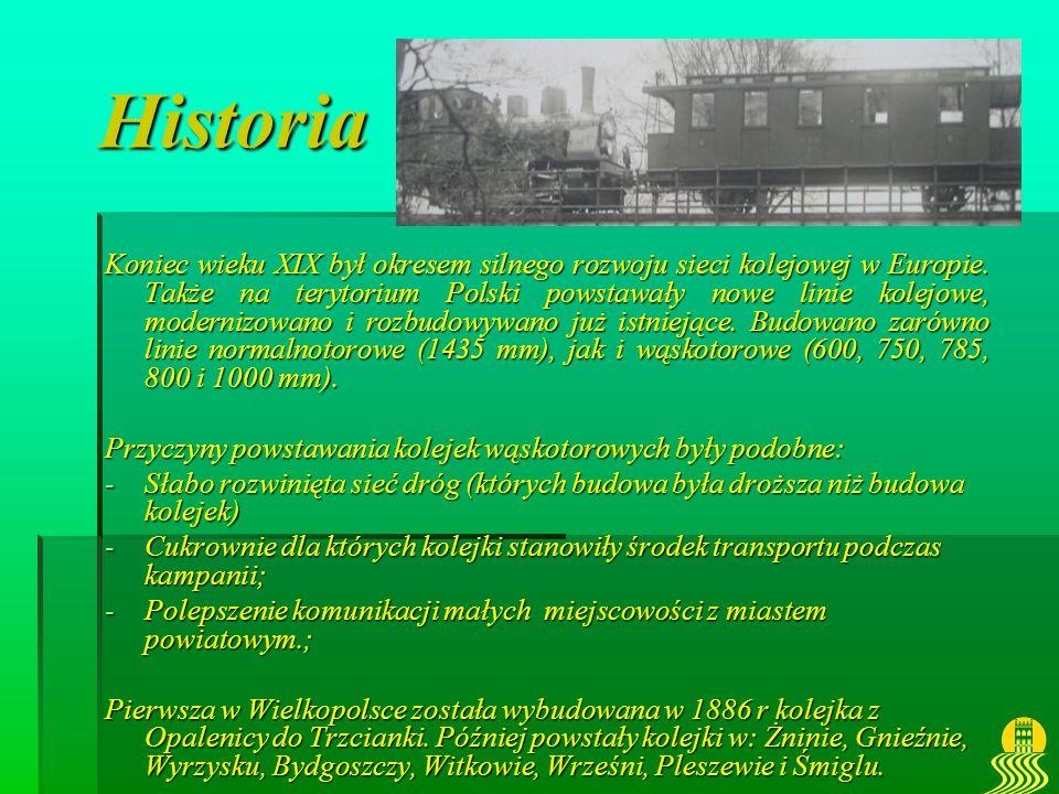 Historia Koniec wieku XIX był okresem silnego rozwoju sieci kolejowej w Europie. Także na terytorium Polski powstawały nowe linie kolejowe, modernizow