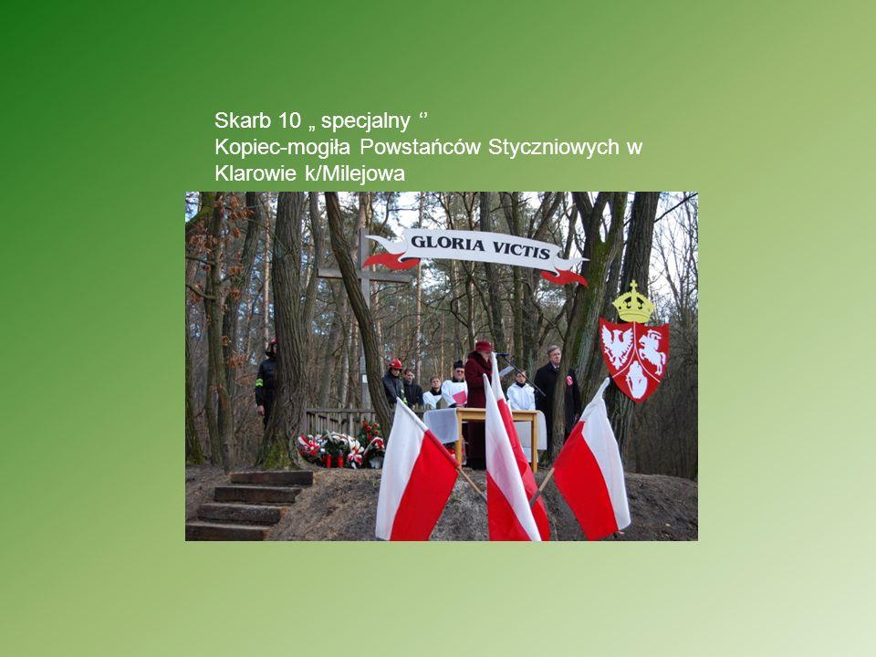 Skarb 10 specjalny Kopiec-mogiła Powstańców Styczniowych w Klarowie k/Milejowa