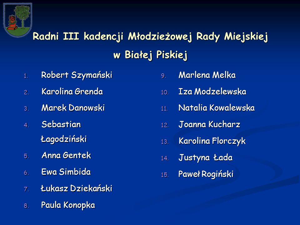 Radni III kadencji Młodzieżowej Rady Miejskiej w Białej Piskiej 1.