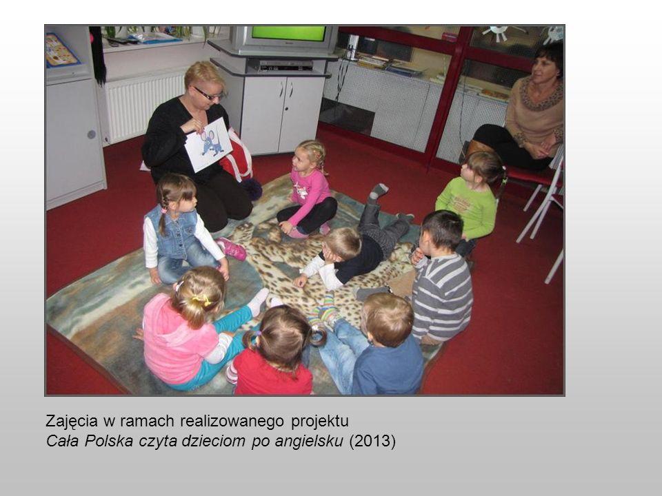 Zajęcia w ramach realizowanego projektu Cała Polska czyta dzieciom po angielsku (2013)