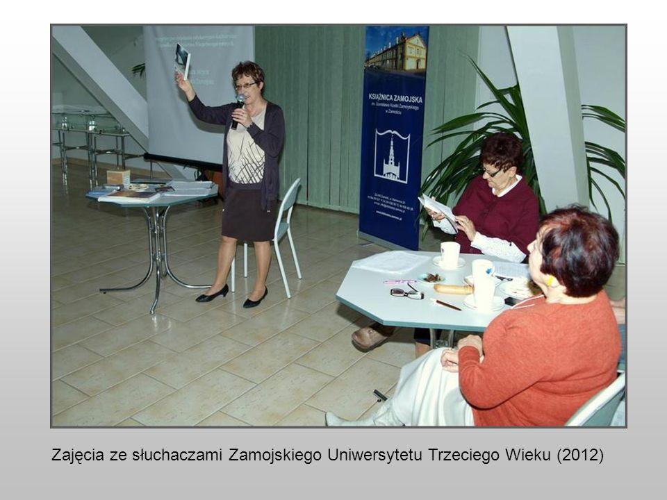 Zajęcia ze słuchaczami Zamojskiego Uniwersytetu Trzeciego Wieku (2012)