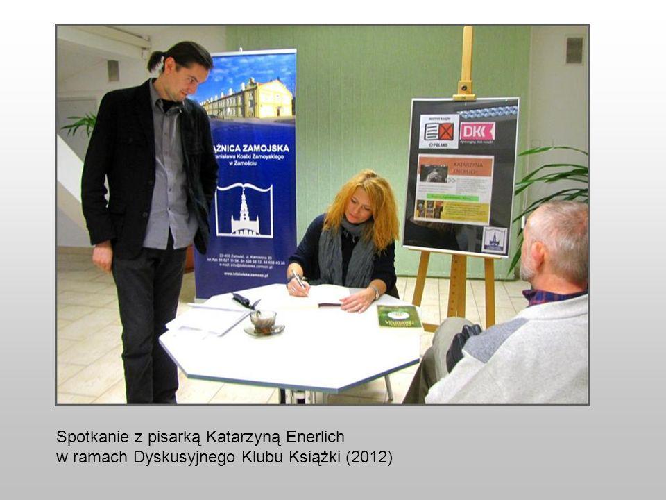 Spotkanie z pisarką Katarzyną Enerlich w ramach Dyskusyjnego Klubu Książki (2012)
