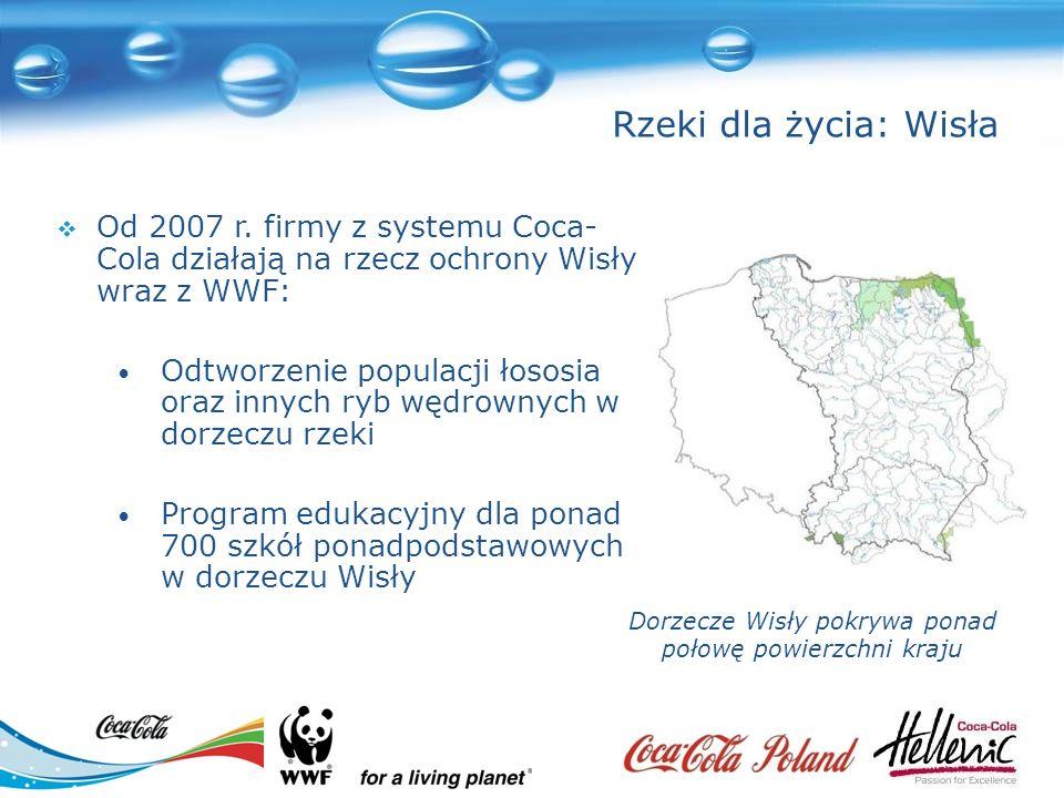 Rzeki dla życia: Wisła Dorzecze Wisły pokrywa ponad połowę powierzchni kraju Od 2007 r.