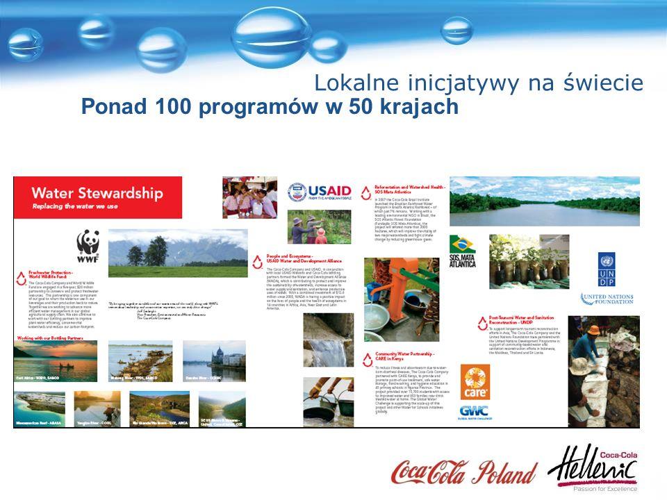 Lokalne inicjatywy na świecie Ponad 100 programów w 50 krajach