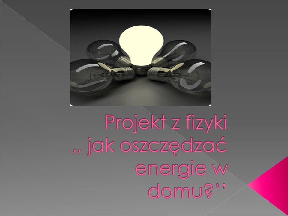 Temat projektu Jak zmniejszyć rachunki za prąd.