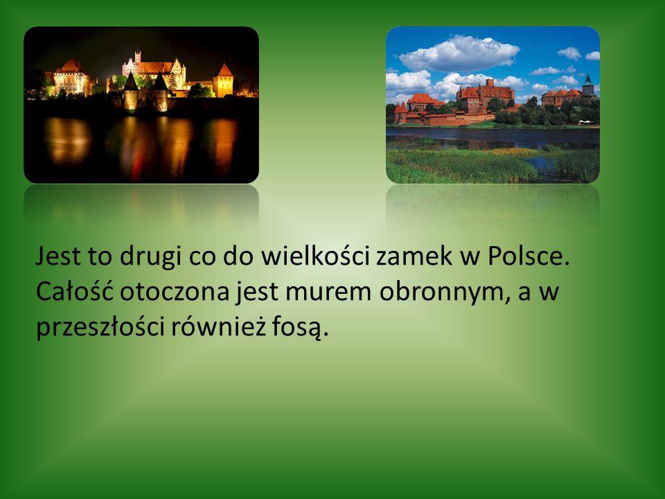 Zamek krzyżacki w Malborku to trzyczęściowa twierdza obronna w stylu gotyckim o kubaturze ponad 250 000 m³.