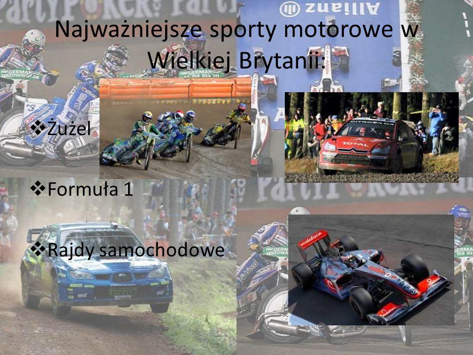 Najważniejsze sporty motorowe w Wielkiej Brytanii: Żużel Formuła 1 Rajdy samochodowe