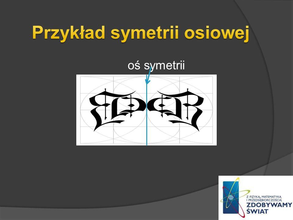 oś symetrii o
