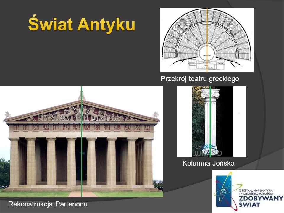 Rekonstrukcja Partenonu Kolumna Jońska Przekrój teatru greckiego
