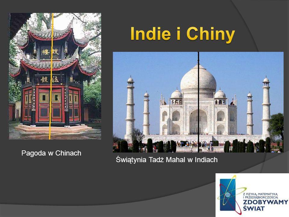 Pagoda w Chinach Świątynia Tadż Mahal w Indiach