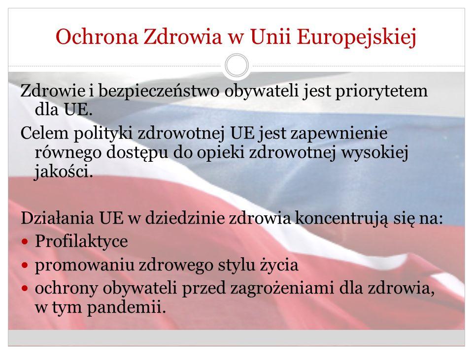 Ochrona Zdrowia w Unii Europejskiej Zdrowie i bezpieczeństwo obywateli jest priorytetem dla UE.