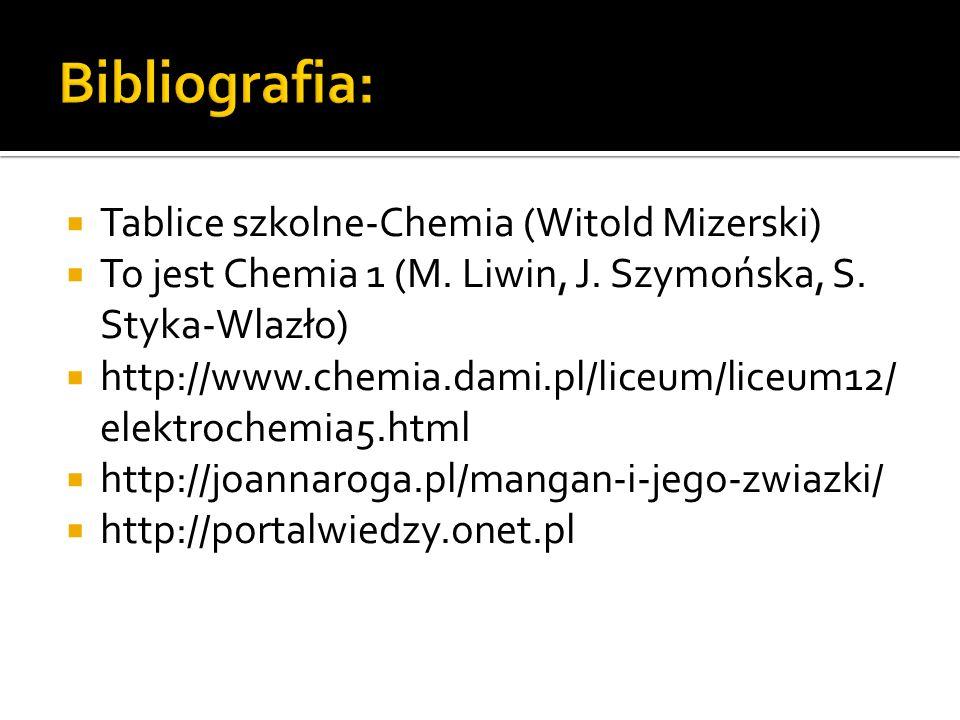 Tablice szkolne-Chemia (Witold Mizerski) To jest Chemia 1 (M.