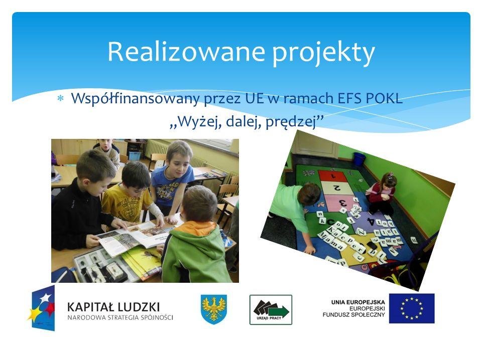 Współfinansowany przez UE w ramach EFS POKL Z Małej Szkoły w Wielki Świat Realizowane projekty