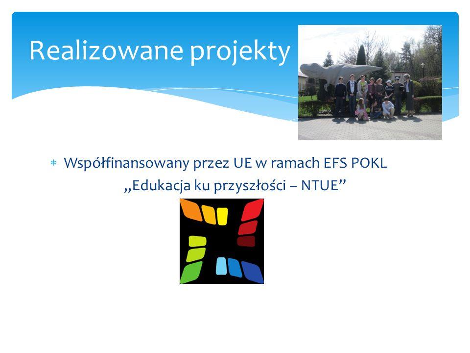 Współfinansowany przez UE w ramach EFS POKL Porusz umysł Realizowane projekty