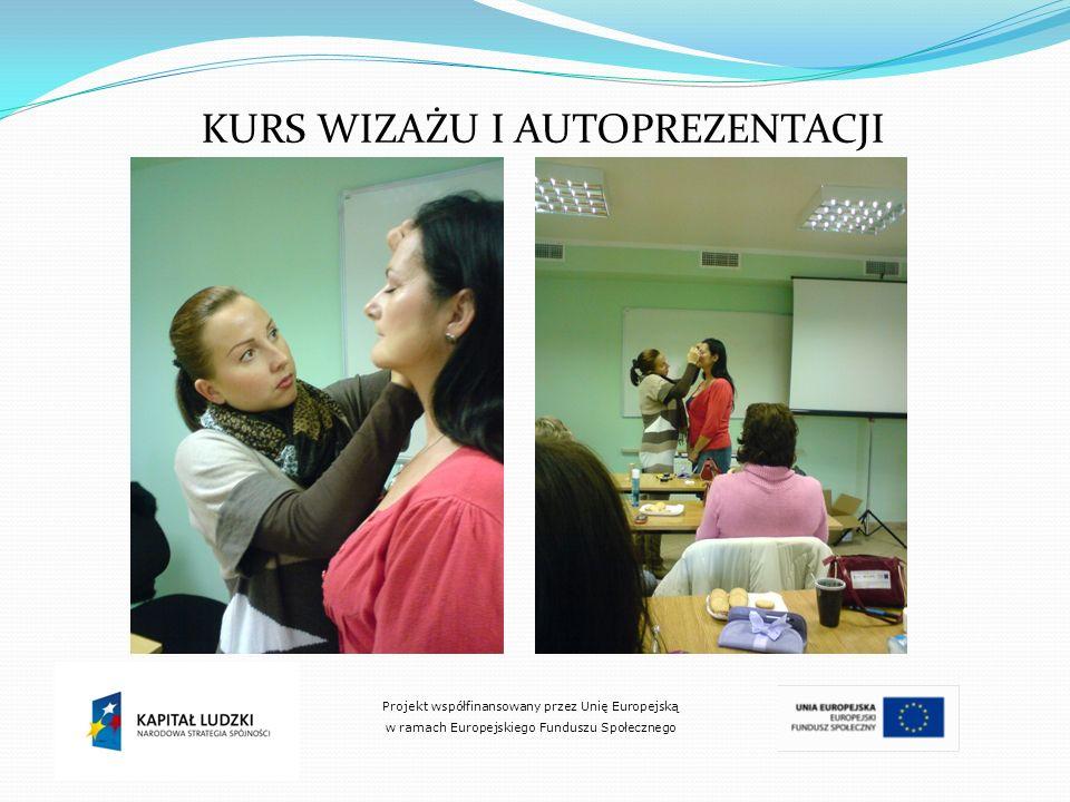 KURS WIZAŻU I AUTOPREZENTACJI Projekt współfinansowany przez Unię Europejską w ramach Europejskiego Funduszu Społecznego