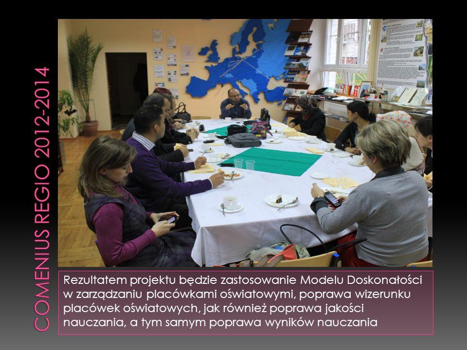 Rezultatem projektu będzie zastosowanie Modelu Doskonałości w zarządzaniu placówkami oświatowymi, poprawa wizerunku placówek oświatowych, jak również poprawa jakości nauczania, a tym samym poprawa wyników nauczania