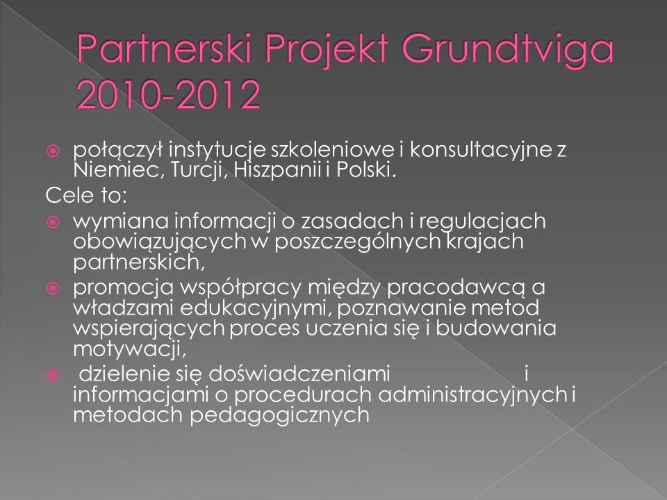 połączył instytucje szkoleniowe i konsultacyjne z Niemiec, Turcji, Hiszpanii i Polski.
