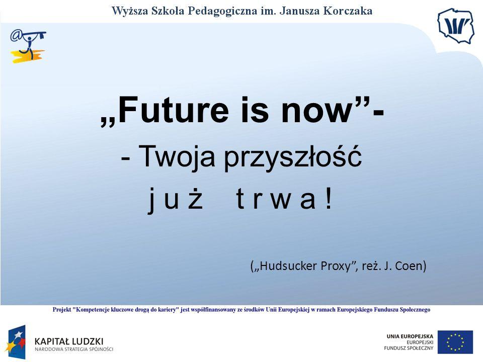 Future is now- - Twoja przyszłość j u ż t r w a ! (Hudsucker Proxy, reż. J. Coen)