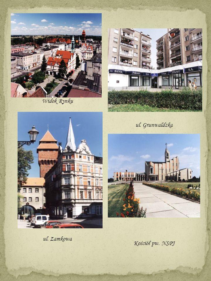 Widok Rynku ul. Zamkowa ul. Grunwaldzka Kościół pw. NSPJ