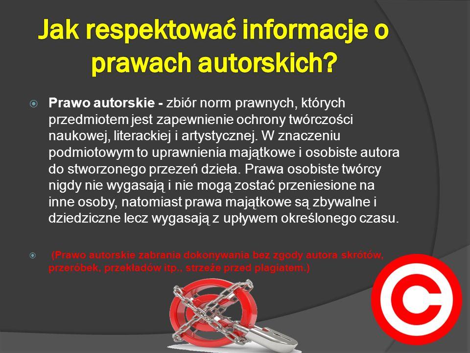 Prawo autorskie - zbiór norm prawnych, których przedmiotem jest zapewnienie ochrony twórczości naukowej, literackiej i artystycznej. W znaczeniu podmi
