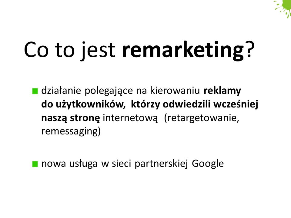 Co to jest remarketing.