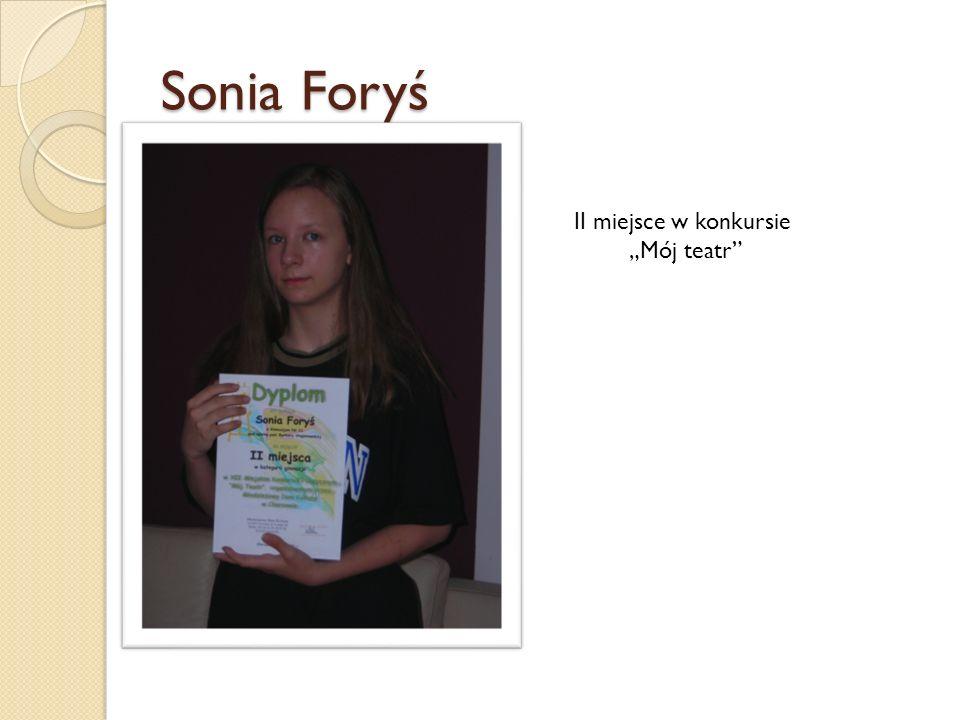 Sonia Foryś II miejsce w konkursie Mój teatr