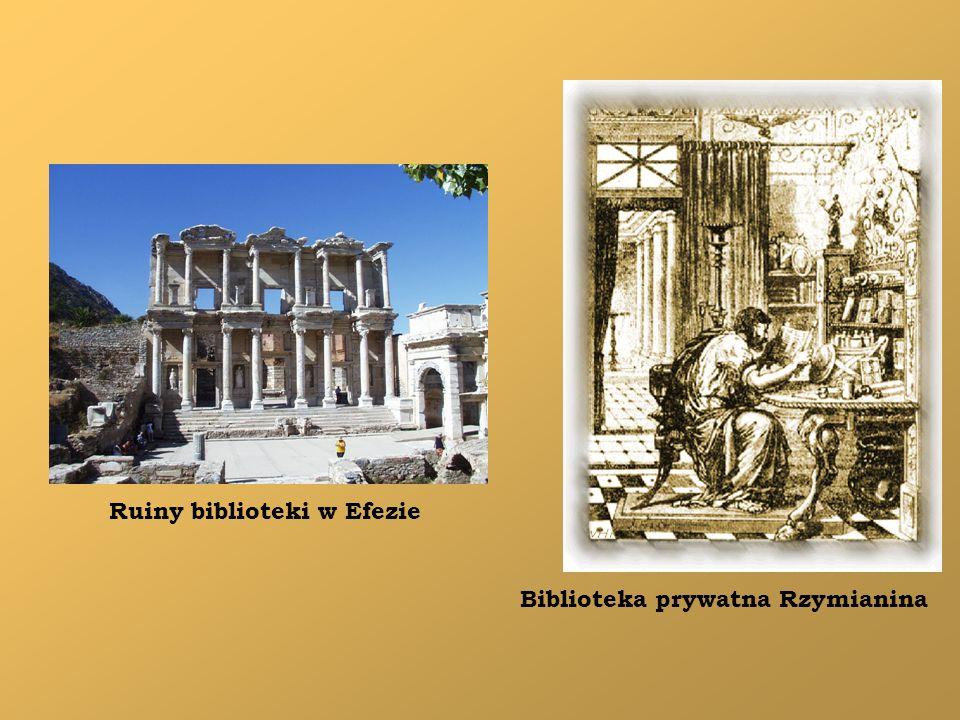 Biblioteka prywatna Rzymianina Ruiny biblioteki w Efezie