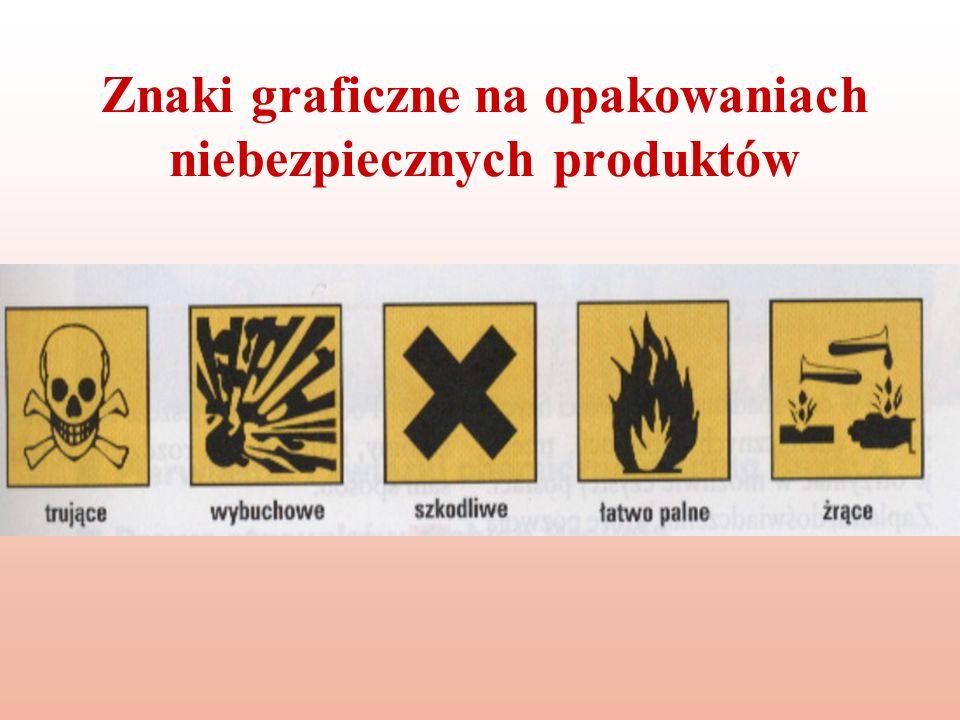 Znaki graficzne na opakowaniach niebezpiecznych produktów