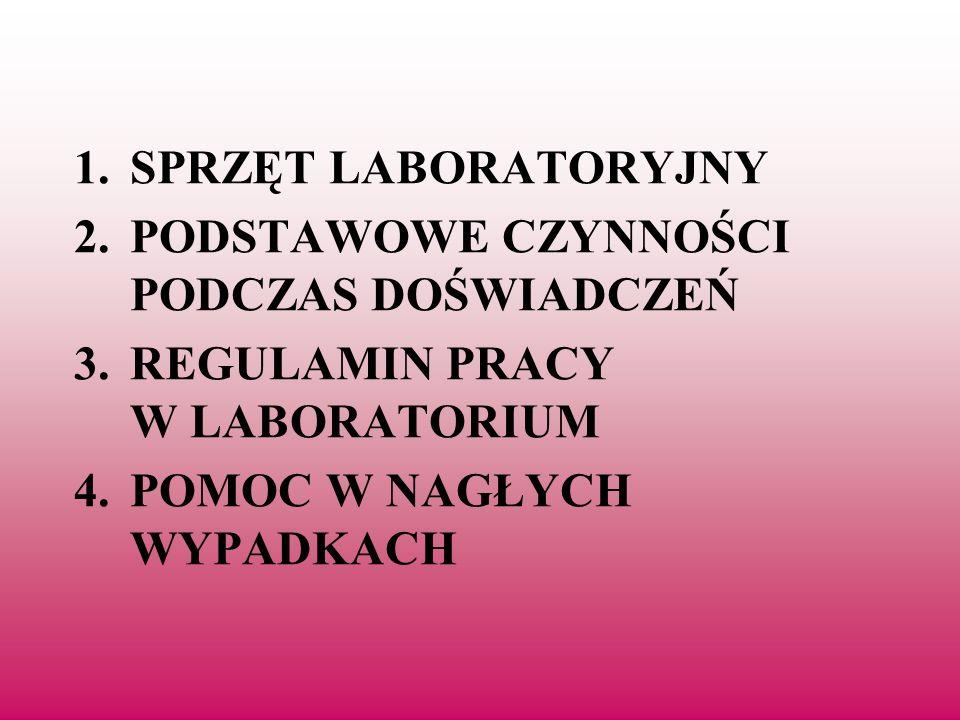 1. Sprzęt laboratoryjny używany na lekcjach chemii
