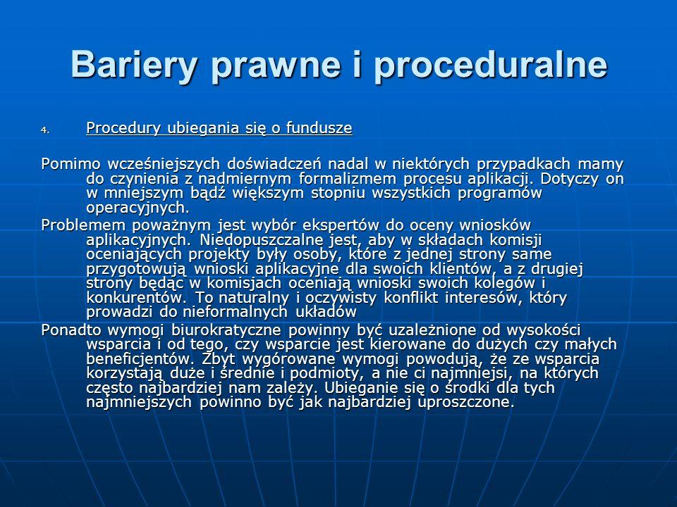 Bariery prawne i proceduralne 4.