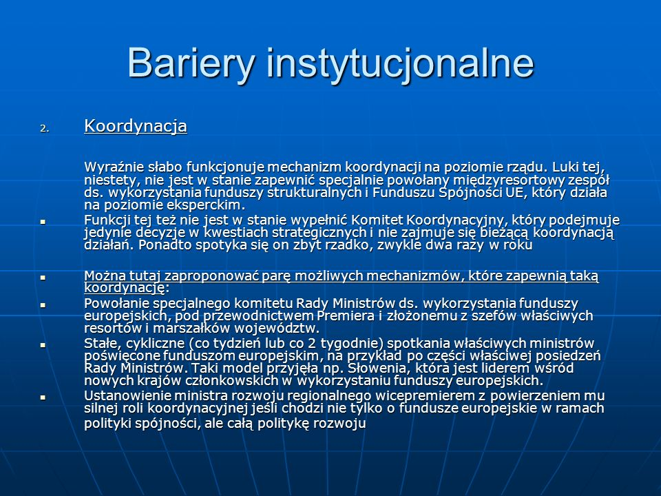 Bariery instytucjonalne 2.