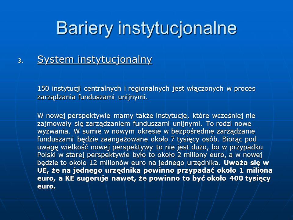 Bariery instytucjonalne 3.
