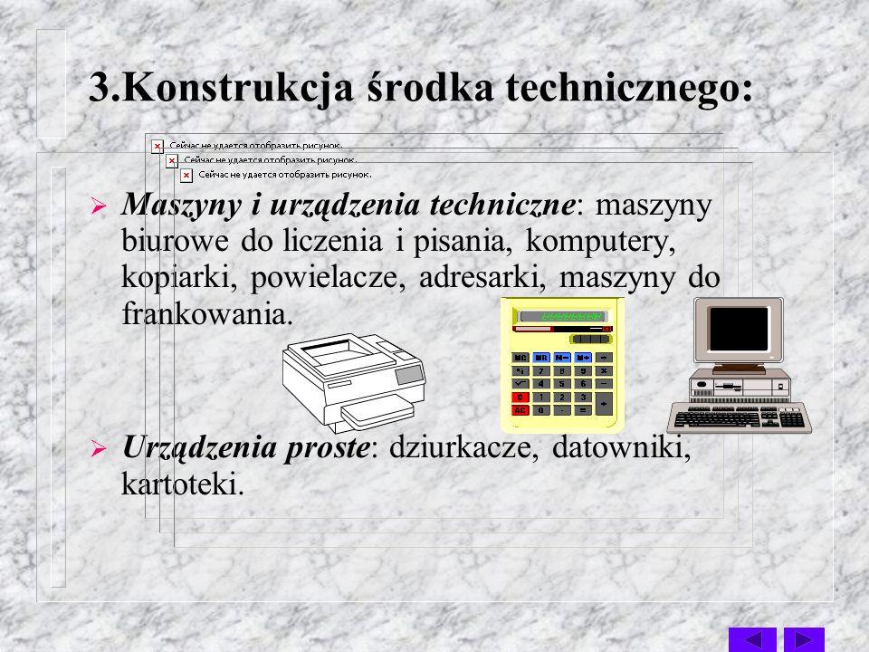 środki o napędzie ręczno- elektrycznym:niektóre rodzaje maszyn do liczenia, środki o napędzie ręcznym:mechaniczne maszyny do pisania.