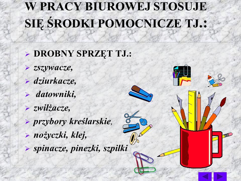 ŚRODKI TECHNICZNE I POMOCNICZE W PRACY BIUROWEJ Autor prezentacji: Dorota Duniewicz-Kufel