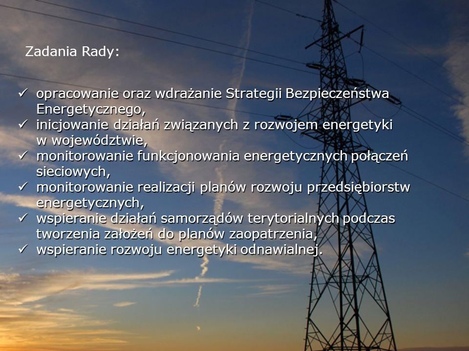 Zadania Rady: opracowanie oraz wdrażanie Strategii Bezpieczeństwa Energetycznego, opracowanie oraz wdrażanie Strategii Bezpieczeństwa Energetycznego,