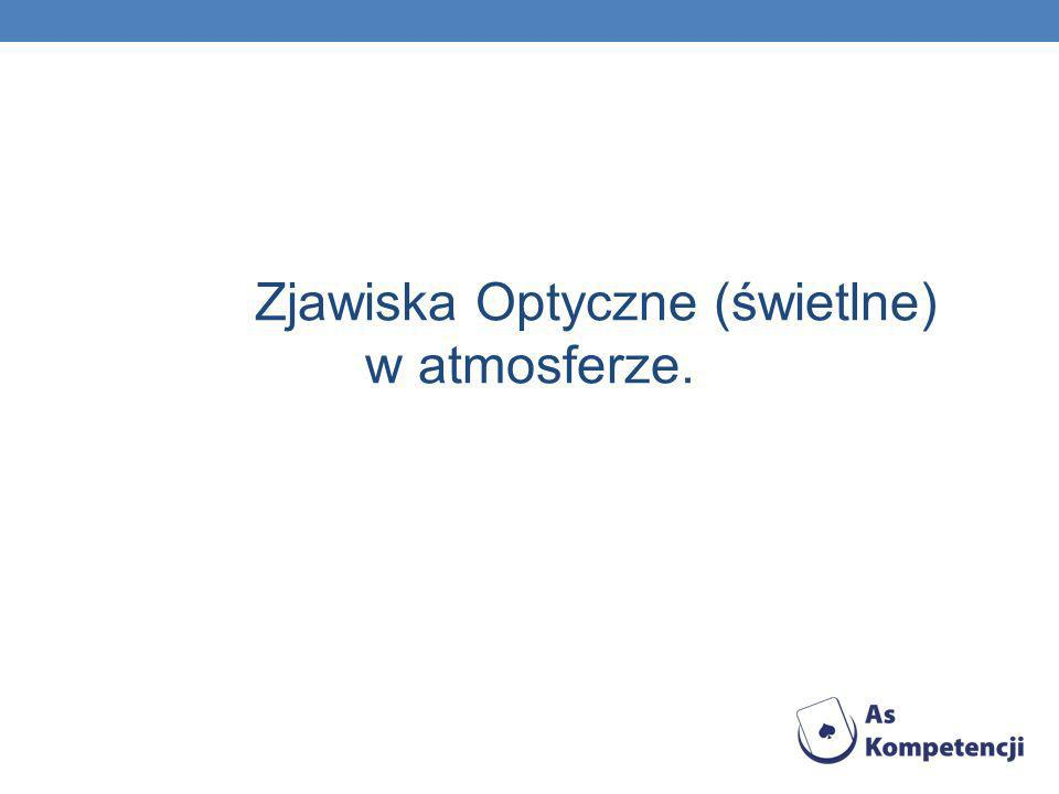 Zjawiska Optyczne (świetlne) w atmosferze.