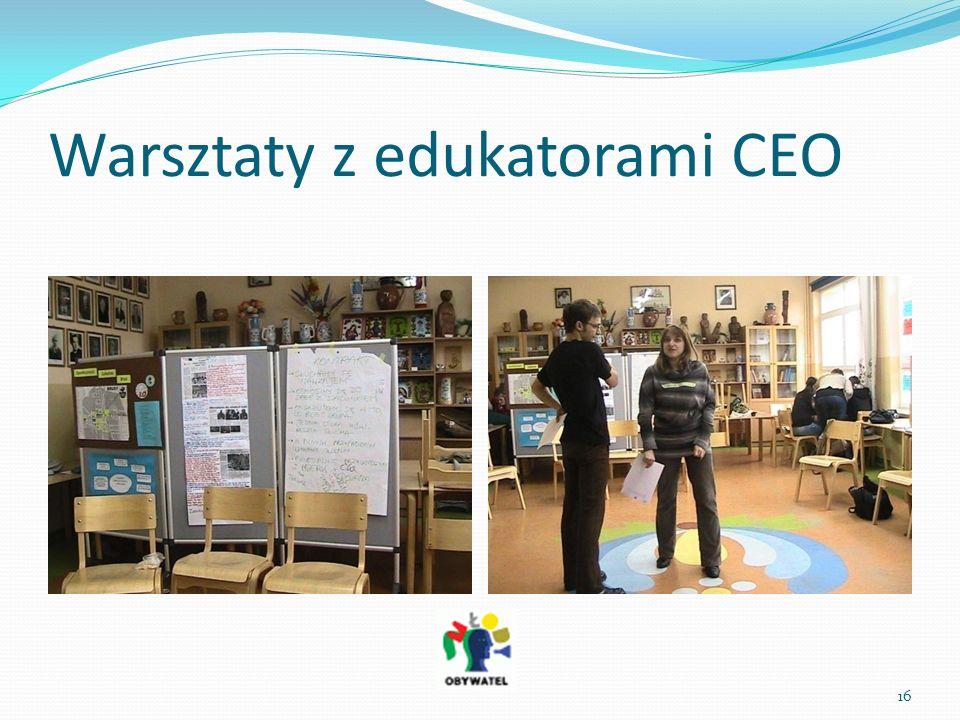 Warsztaty z edukatorami CEO 16