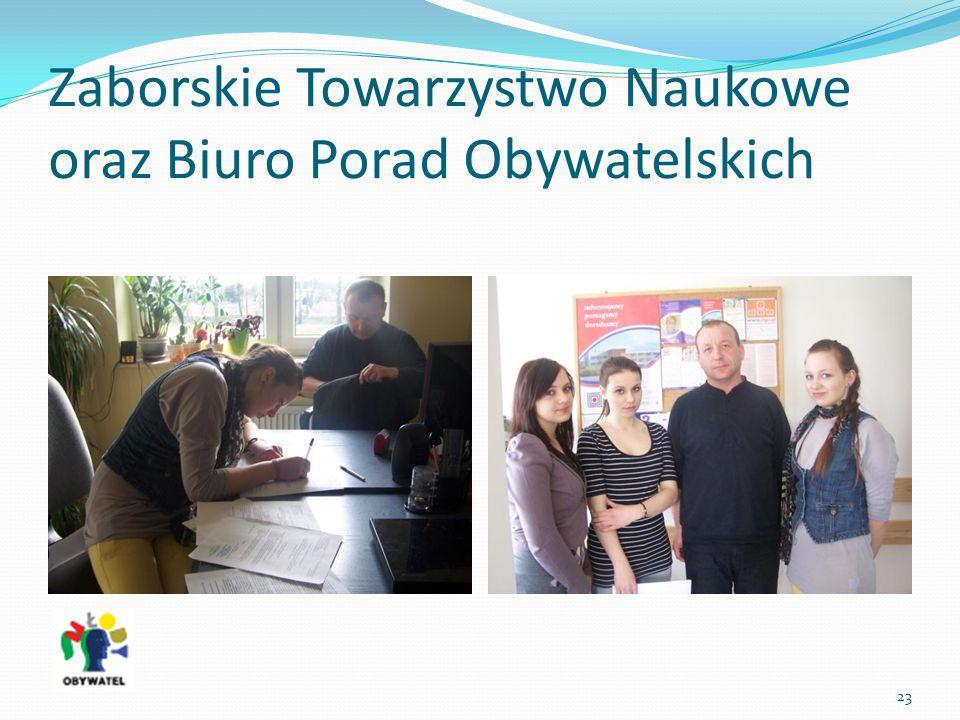 Zaborskie Towarzystwo Naukowe oraz Biuro Porad Obywatelskich 23