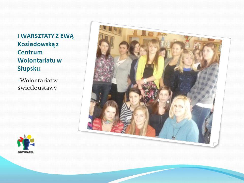 I WARSZTATY Z EWĄ Kosiedowską z Centrum Wolontariatu w Słupsku - Wolontariat w świetle ustawy 4